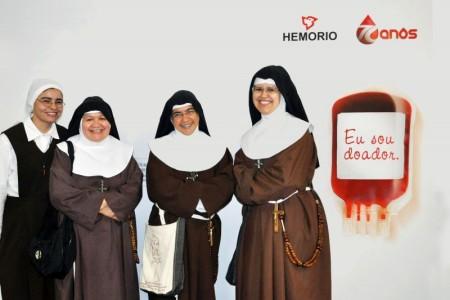 hemorio_freiras_doação_de_sangue